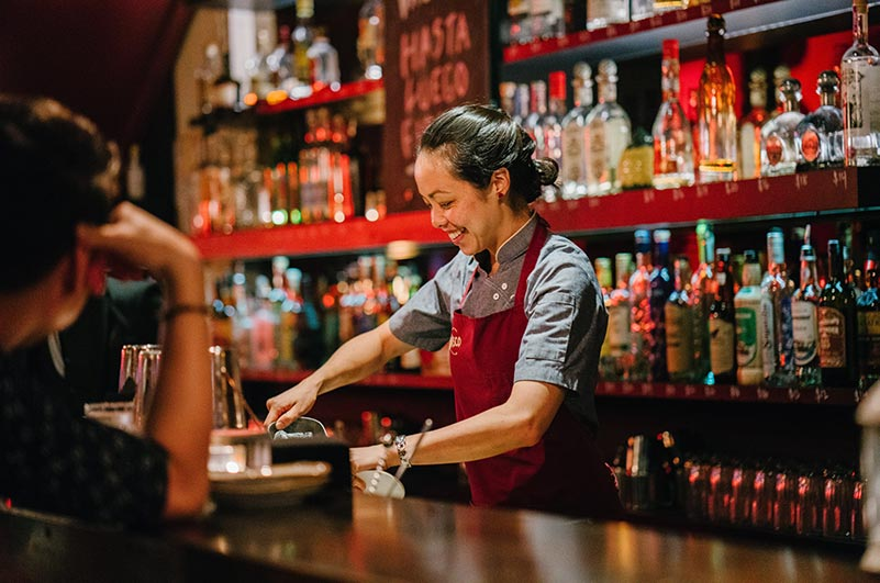In a bar, preventing intoxication is everyone's responsibility.